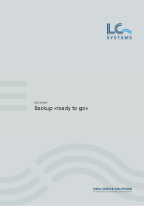 Backup «ready to go - LC Systems