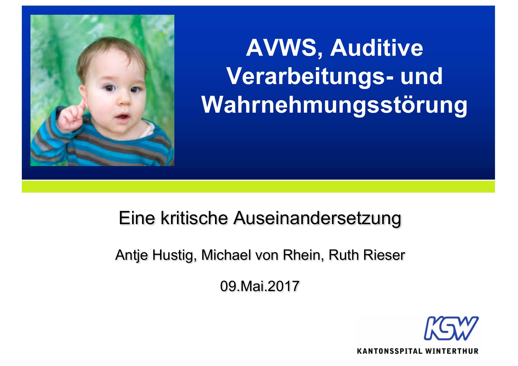 AVWS SPZ-Fortbildung Mai 2017