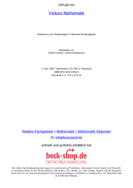 Vorkurs Mathematik - ReadingSample - Beck-Shop