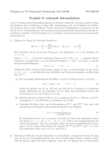 Projekt 2: rationale Interpolation