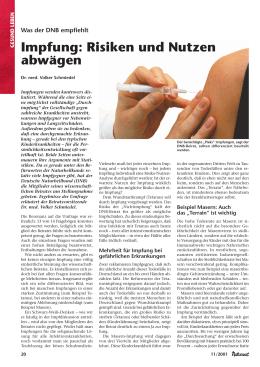 nutzen risiko impfungen