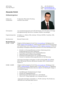 Resume of Alexander Dolnick, s/w engineer