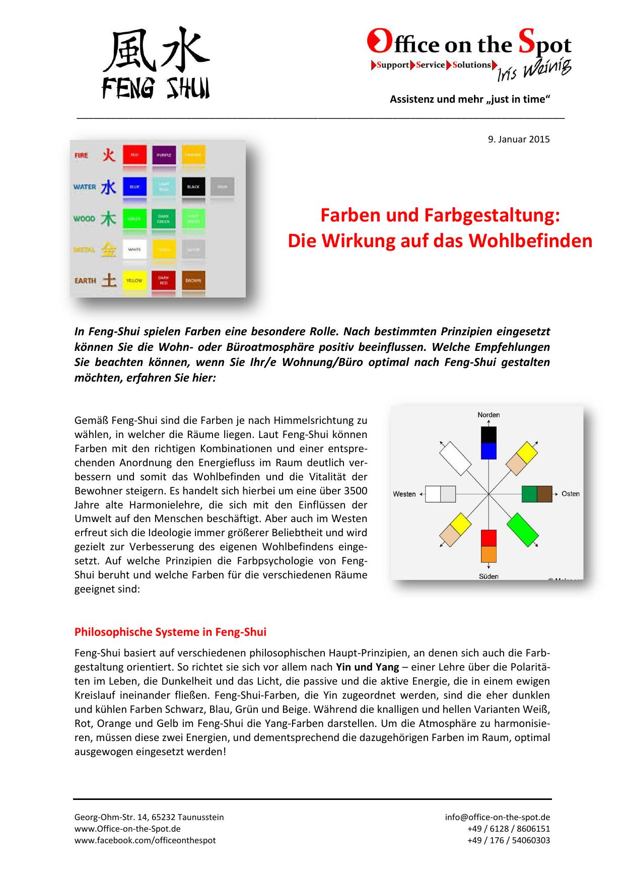 Farben und Farbgestaltung - Office on the Spot Iris Weinig