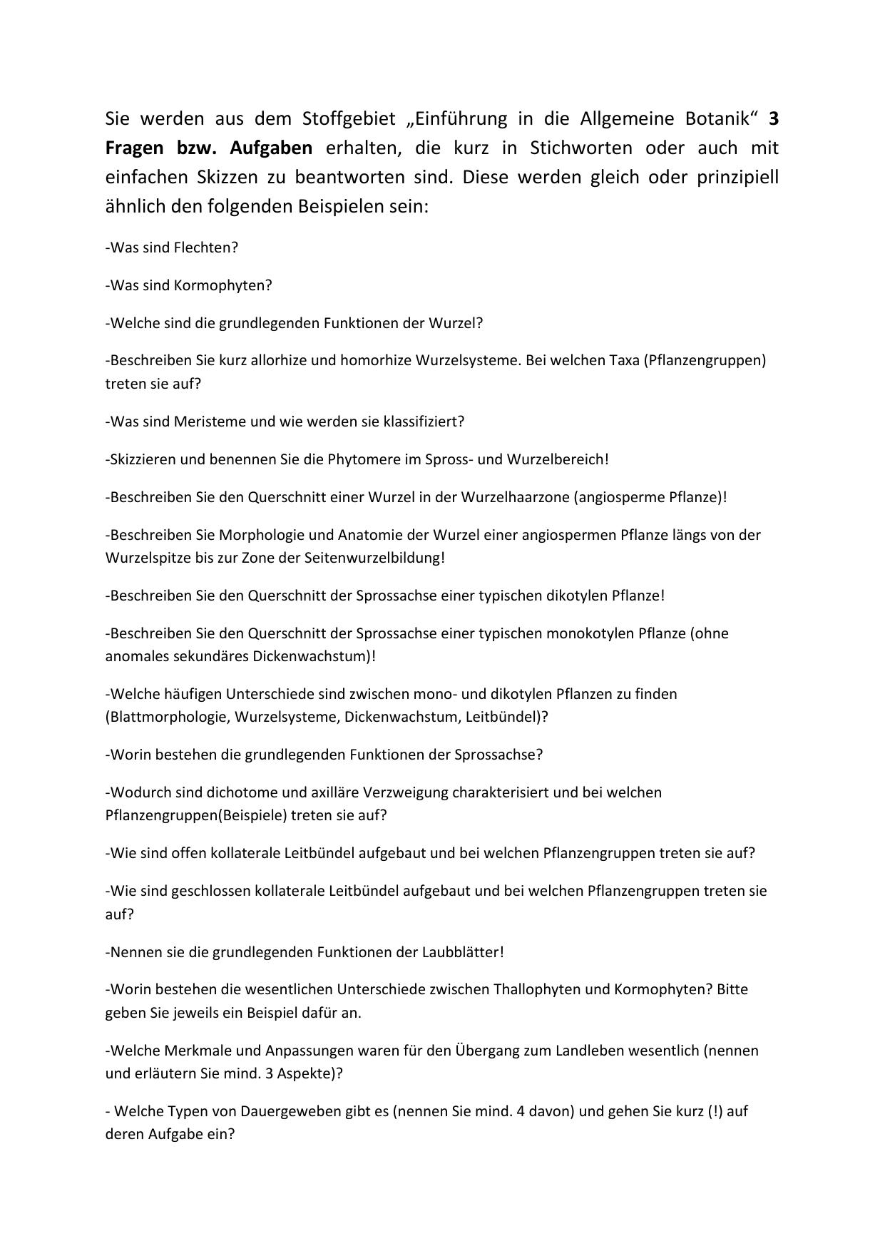 Atemberaubend Anatomie Der Wurzel Galerie - Physiologie Von ...
