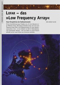 LOFAR - das Low Frequency Array