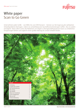 White paper Scan to Go Green