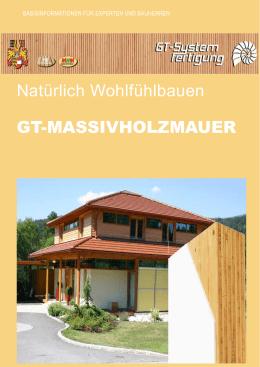 Natürlich Wohlfühlbauen GT MASSIVHOLZMAUER   GT Haus