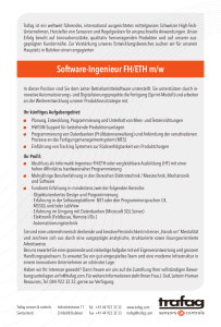 Software-Ingenieur FH/ETH m/w