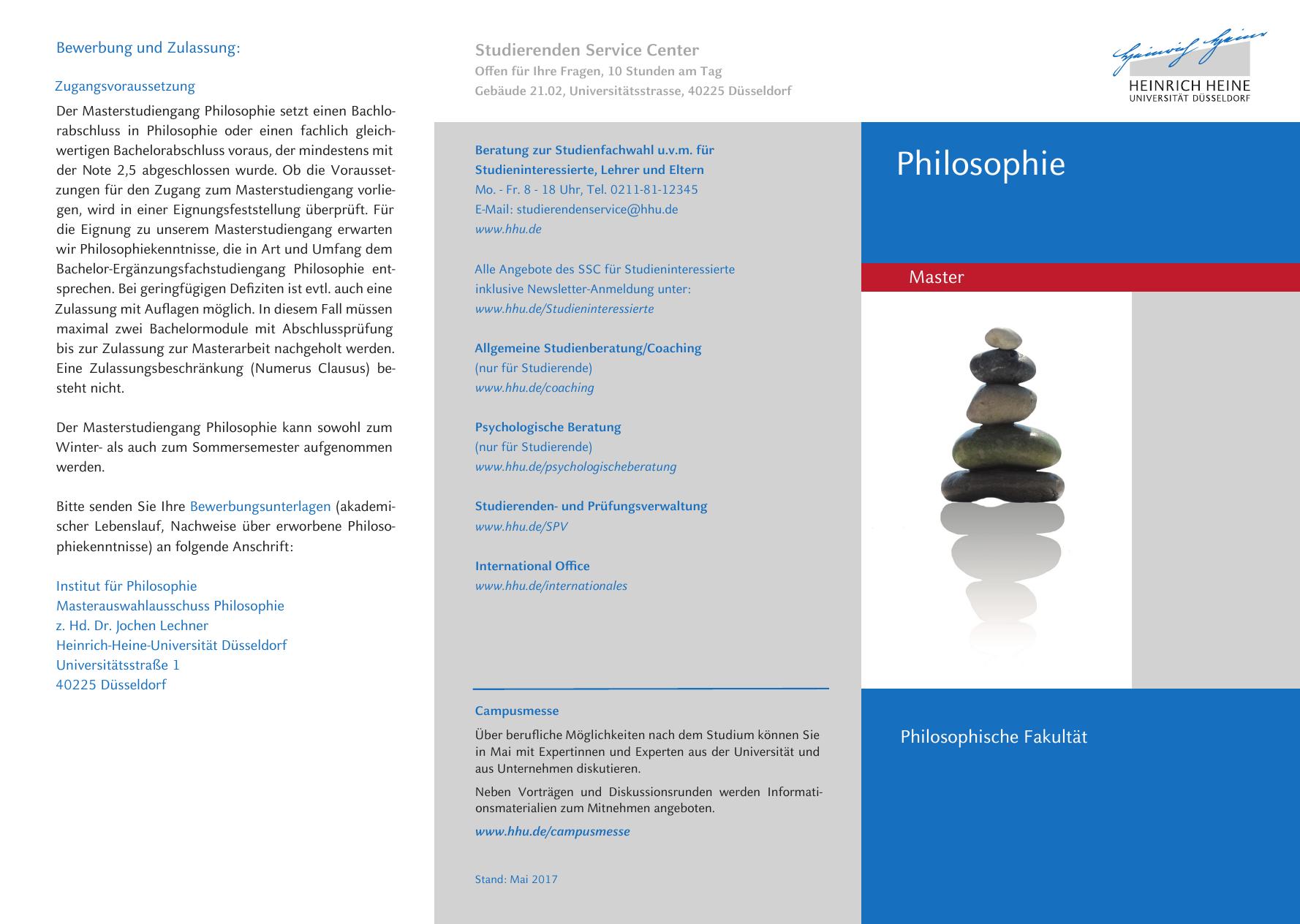philosophie heinrich heine - Uni Dsseldorf Bewerbung