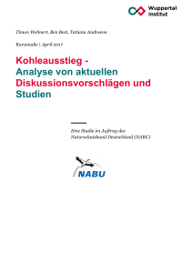 Kohleausstieg - Publication Server of the Wuppertal Institute