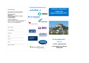 3. Marburger Hygiene-Symposium 2017