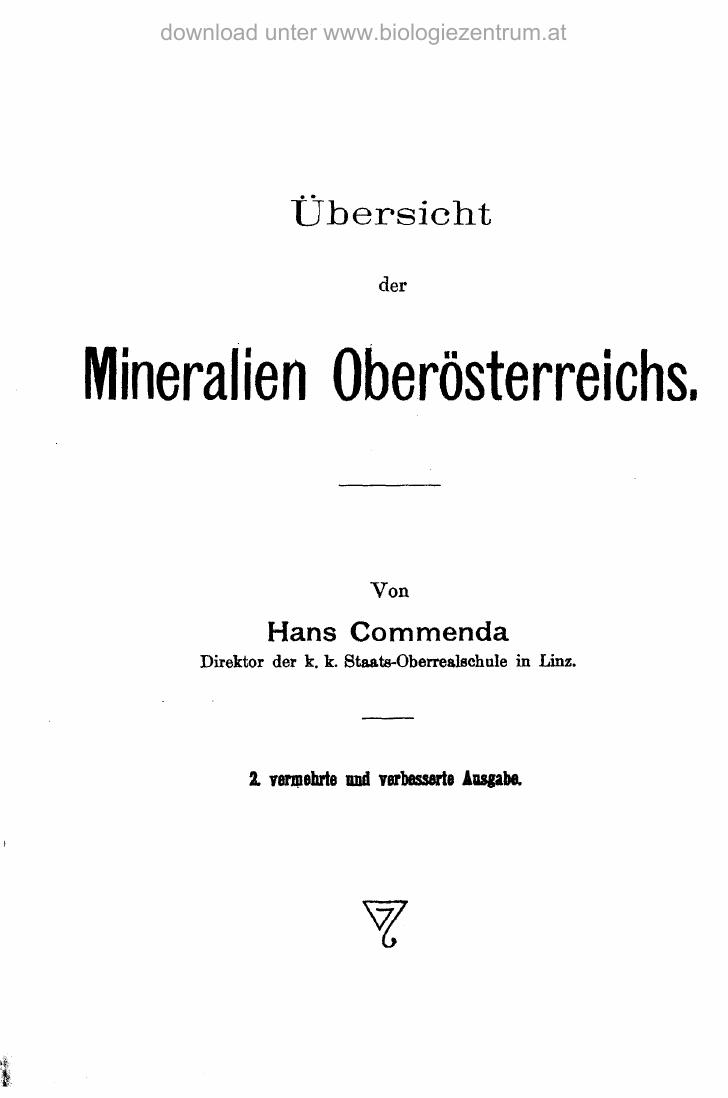Mineralien Oberösterreichs
