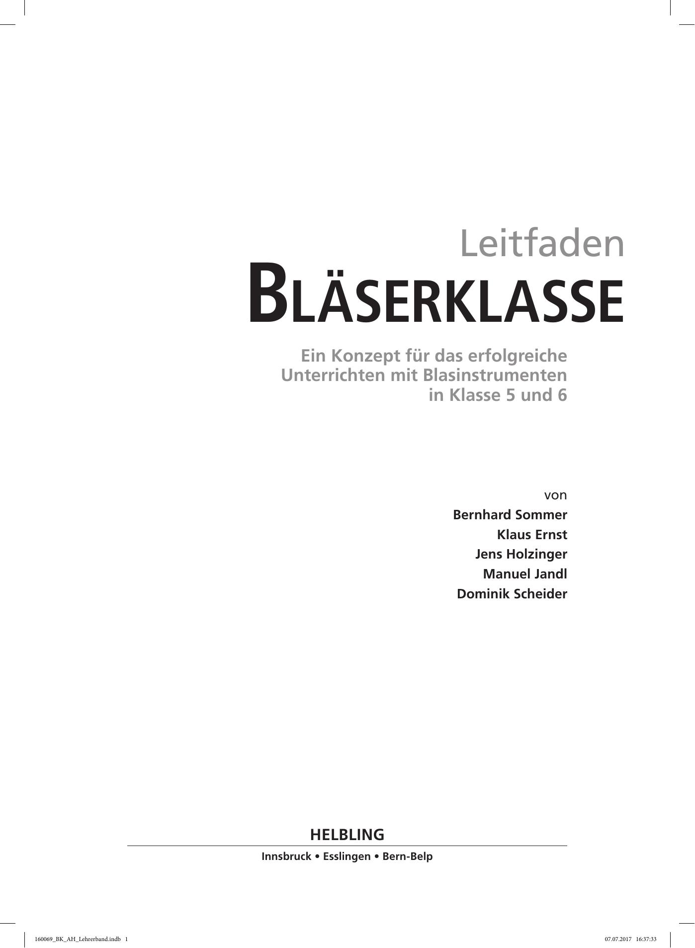 bläserklasse - Helbling Verlag