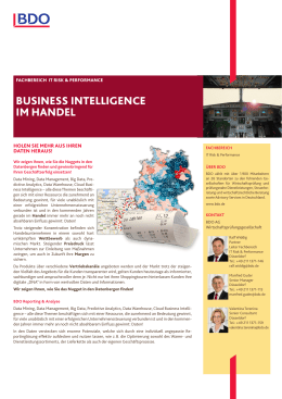 business intelligence im handel