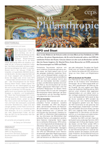 Philanthropie Aktuell #03/15 - Center for Philanthropy Studies