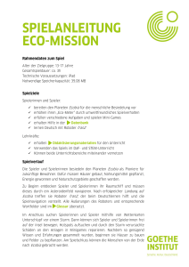 spielanleitung eco-mission - Goethe