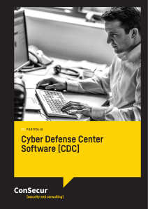 Cyber Defense Center Software [CDC]