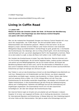 Living in Coffin Road