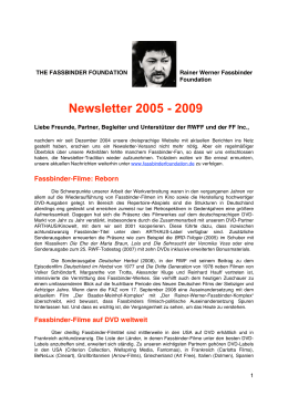 Newsletter 2005 - 2009 - Rainer Werner Fassbinder Foundation