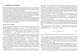 15 Hamiltonsche Mechanik