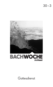 bachwoche - Internationale Bachakademie Stuttgart