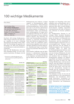 100 wichtige Medikamente - Primary and Hospital Care