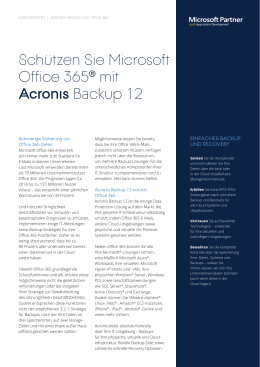 Acronis Backup für​ Office 365 Email