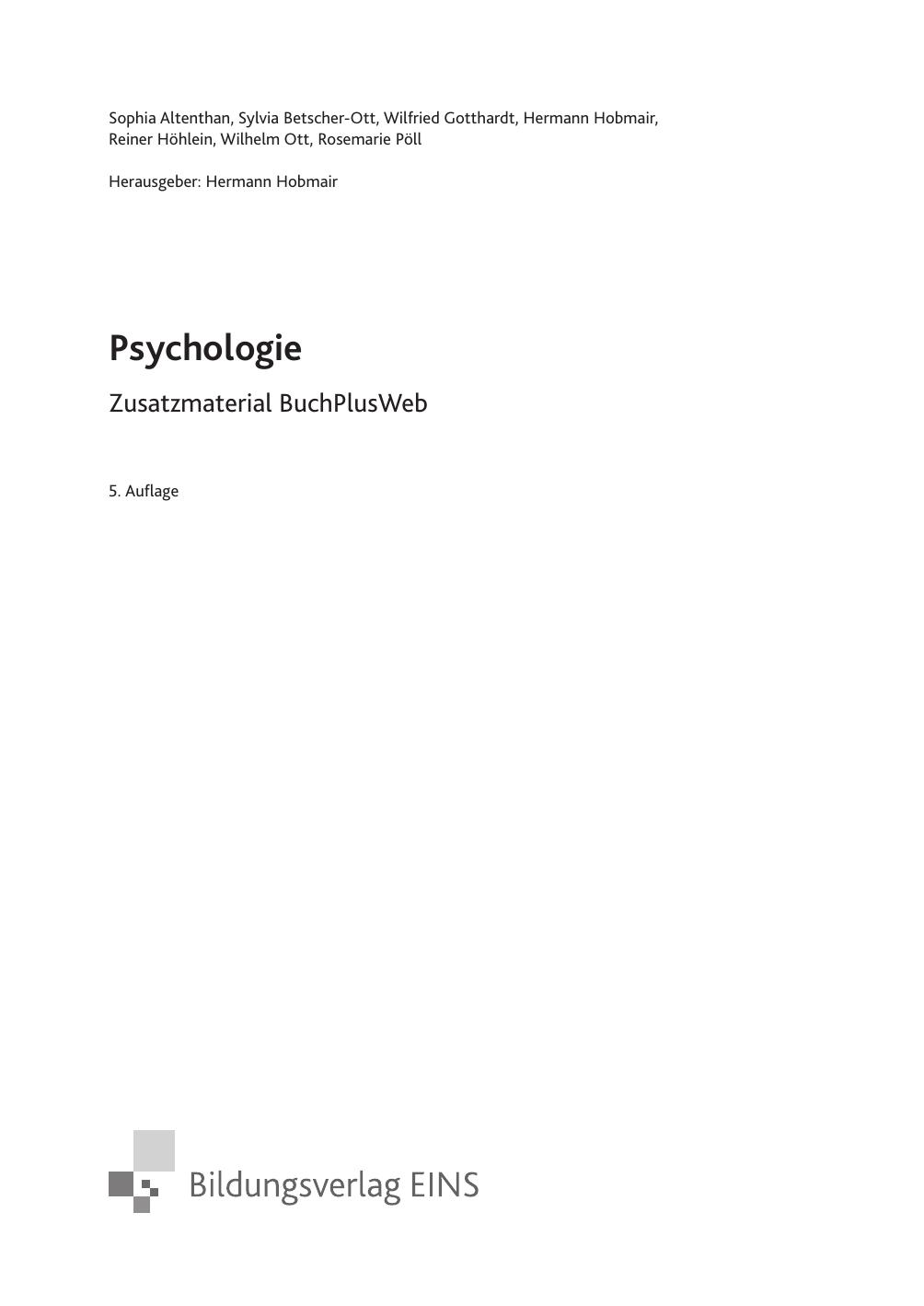 Psychologie - Schulbuchzentrum Online