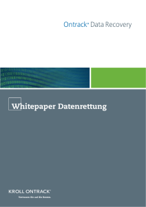 Whitepaper Datenrettung - IT