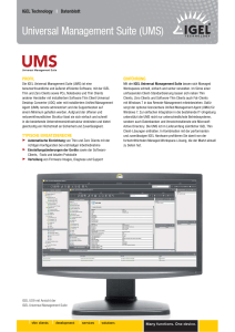 Universal Management Suite (UMS)