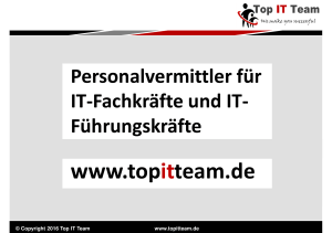 Kurzprofil der Firma Top IT Team