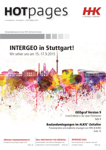 INTERGEO in Stuttgart! - HHK Datentechnik GmbH