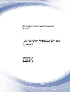 Data Protection for VMware Benutzerhandbuch