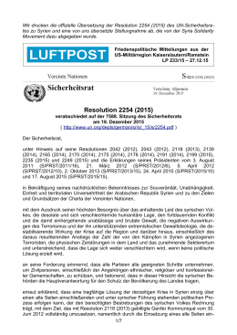 Resolution 2254 (2015) - Luftpost Kaiserslautern