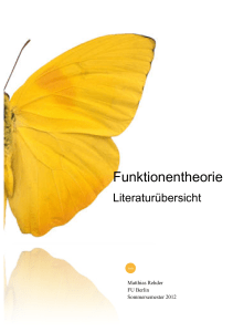Funktionentheorie Funktionentheorie