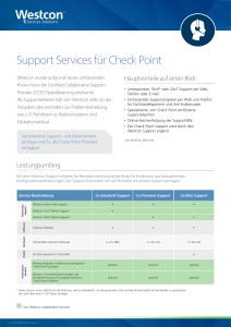 Support Services für Check Point