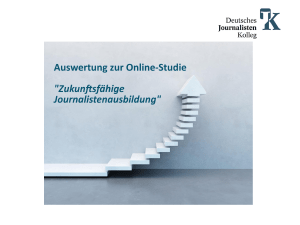 Auswertung - Deutsches Journalistenkolleg