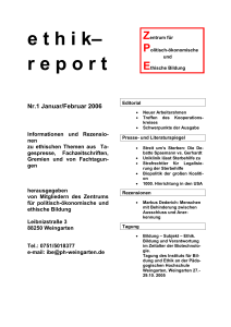 ethik– report - PH Weingarten