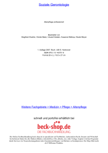 Soziale Gerontologie - ReadingSample - Beck-Shop