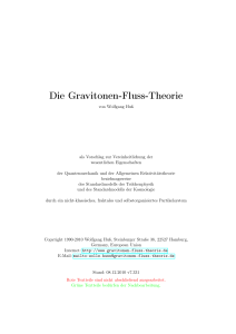 Die Gravitonen-Fluss-Theorie - The New Soul Of Science Project