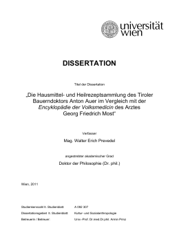 dissertation - Universität Wien