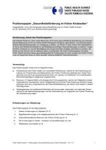 Positionspapier - Public Health Schweiz