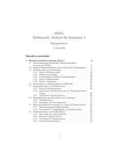 MAE4 Mathematik: Analysis für Ingenieure 4