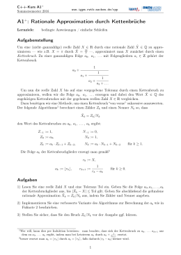 A1+: Rationale Approximation durch Kettenbrüche