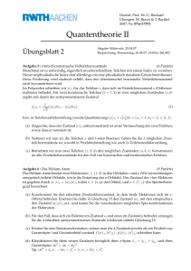 Quantentheorie II - Physik