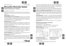 Sinusitis Nosode-Injeel® Ampullen - shop