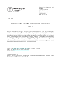 Psychotherapie bei Schwindel - Zurich Open Repository and Archive