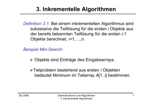 Inkrementelle Algorithmen, Insertion-Sort
