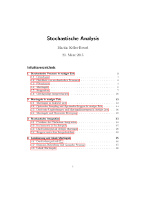 Stochastische Analysis