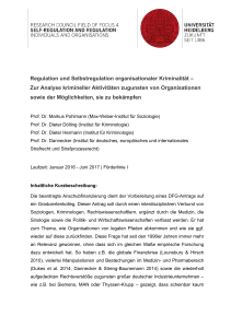 Regulation und Selbstregulation organisationaler